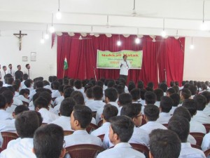Fr. Kalapura conducting street plays in schools-21